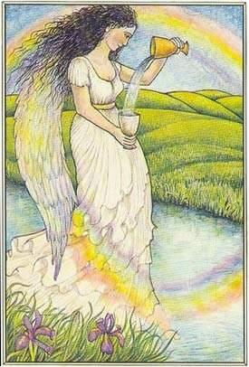 a temperança no tarot mitologico
