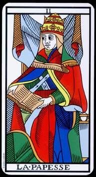 a sacerdotisa no tarot