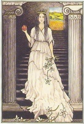 a sacerdotisa no tarot mitologico