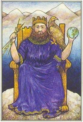 o imperador no tarot mitológico
