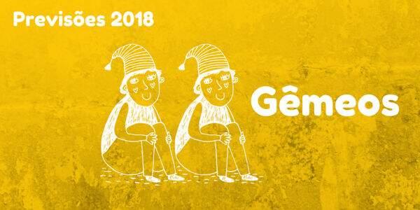 Previsões do signo de Gêmeos para 2018