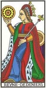 rainha de ouros no tarot