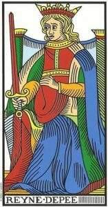 rainha de espadas no tarot