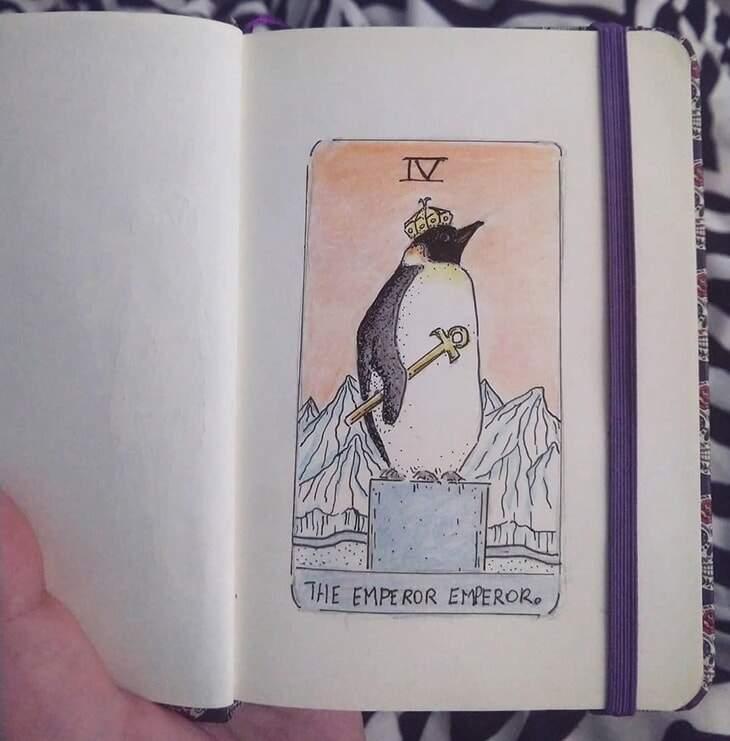 como fazer um baralho de tarot - pinguim