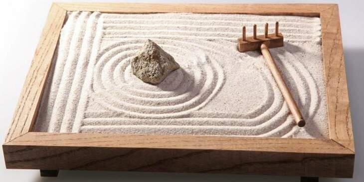 Jardim zen miniatura
