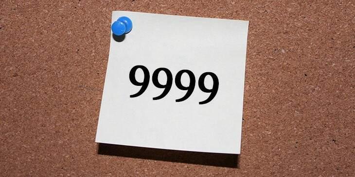 significado de 9999
