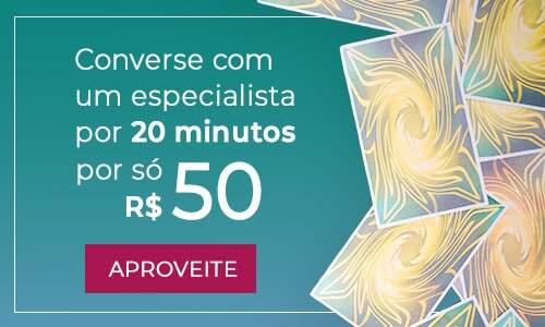 Converse com um especialista por 20 minutos por só R$50,00
