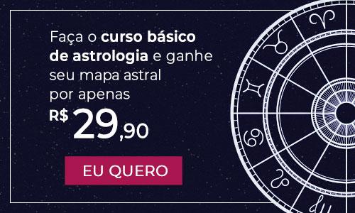 Faça o curso básico de Astrologia e ganhe seu mapa astral por apenas R$ 29,90