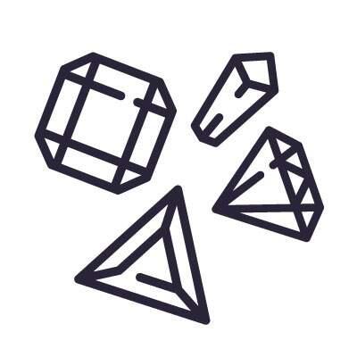 Diversos tipos de cristais