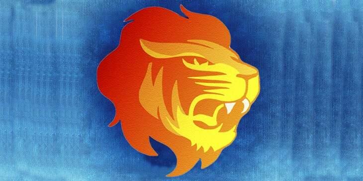 fundo do céu em leão