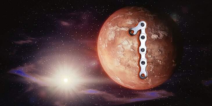 Marte na Casa 1